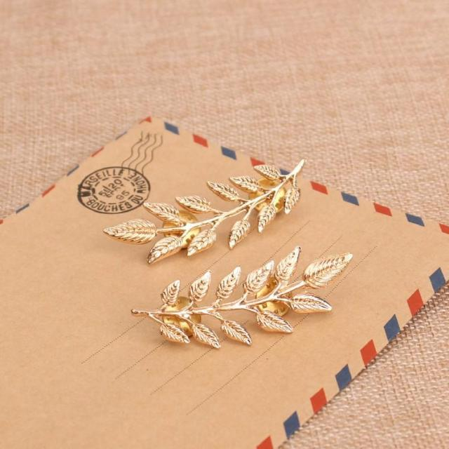 Korean jewelry wind retro tree men and women universal brooch leaf shirt suit collar wholesale Pins And Brooches Lapel Pin